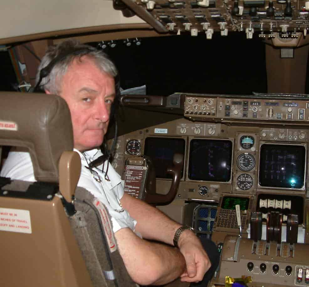 Capt Leahy in cockpit seat