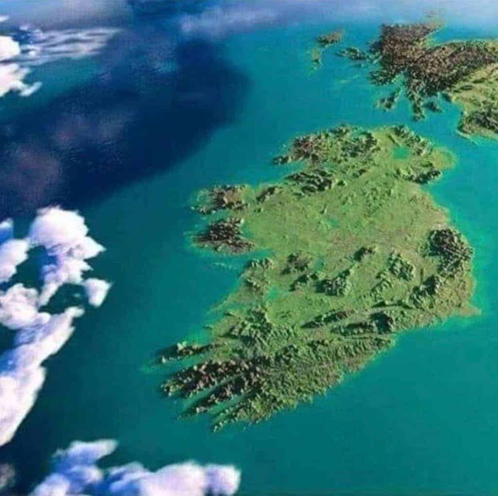 Cloudless view of Ireland rom the Space Station