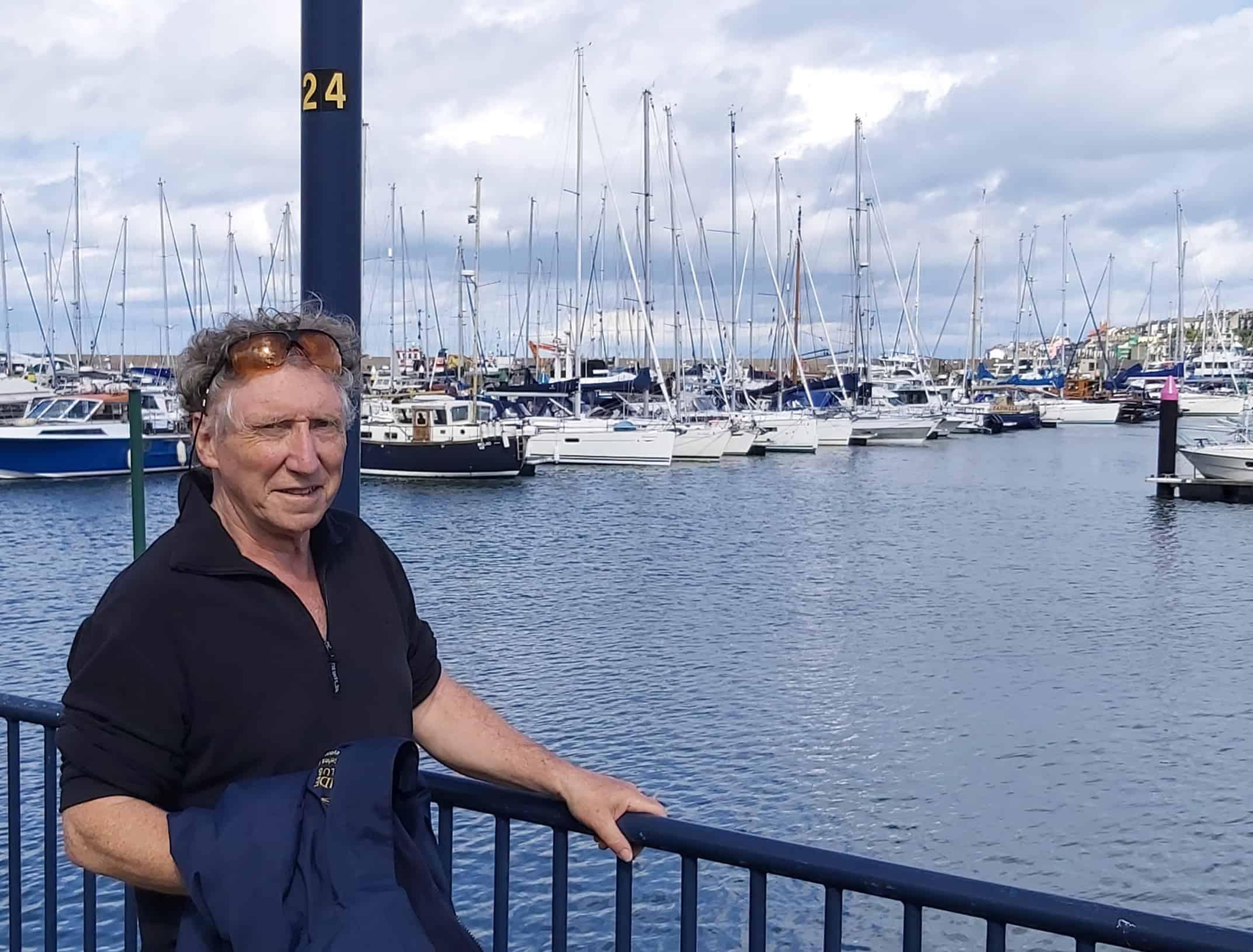 Commodore Vincent Lundy at Bangor Marina