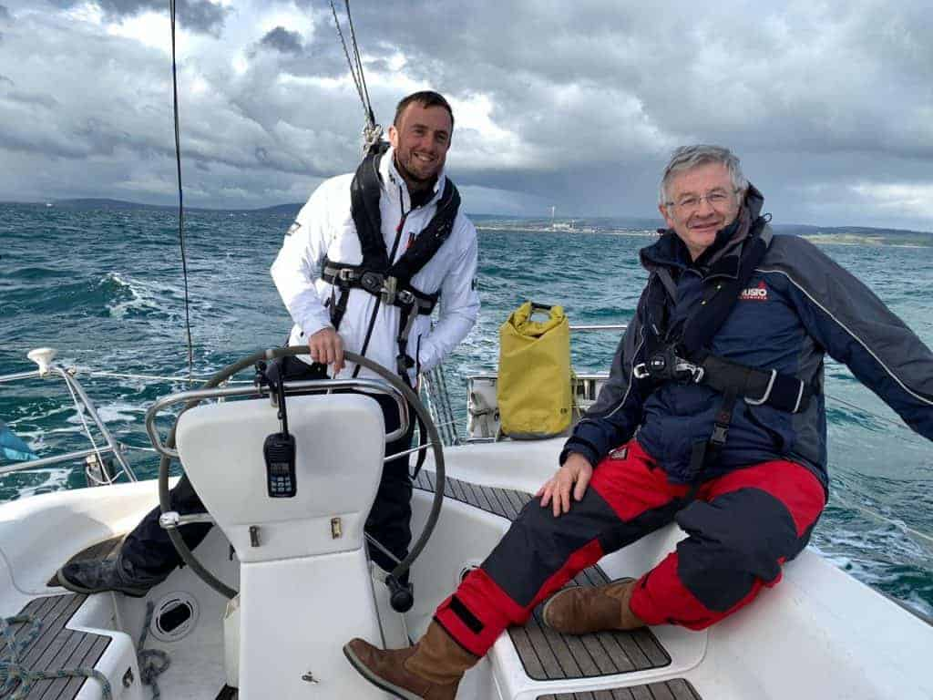 Gregor and John onboard Enigma