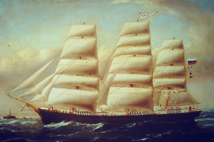 The SS Palme, a 1,114 ton barque,