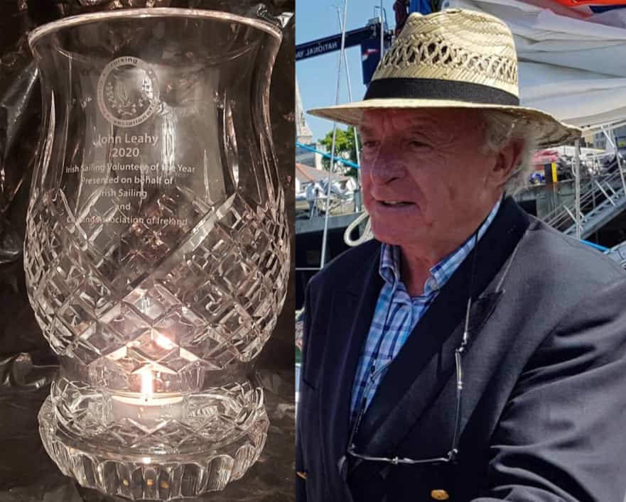 John Leahy with Crystal lantern